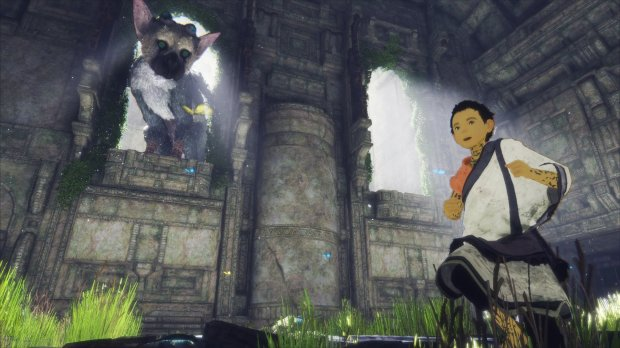 "A boy and a giant creature named Trico must work together to escape a mysterious, dilapidated fortress in ""The Last Guardian."""