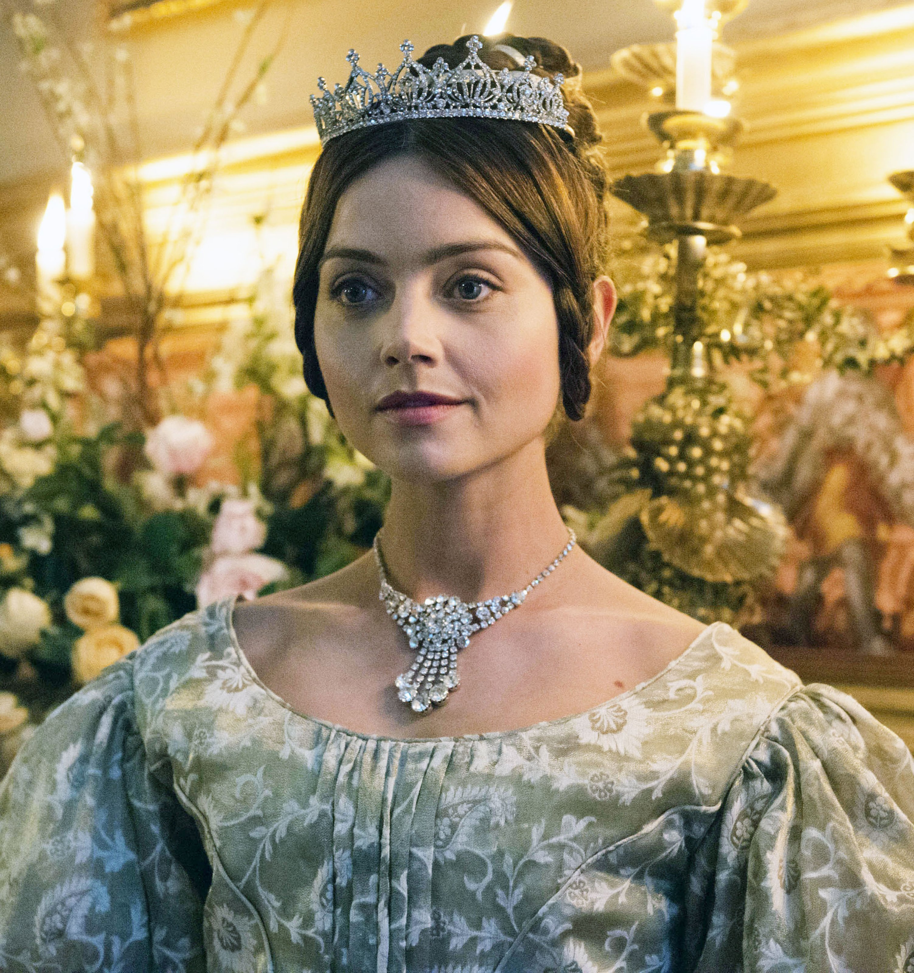 "Jenna Coleman plays young Queen Victoria in the series ""Victoria."""