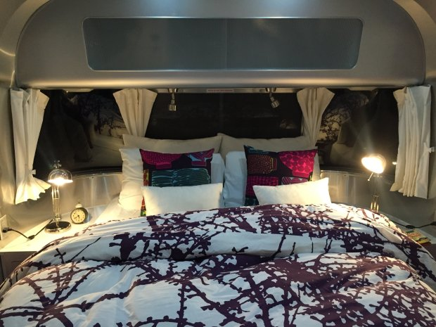 """ANGELA HILL/STAFFA stay in the """"honeymoon suite"""" -- a 28-foot Airstream trailer -- is sure to get you cozying up to your sweetie at the eclectic Metro Lodge & Cafe in Petaluma."""