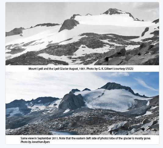 disappearing Lyell Glacier