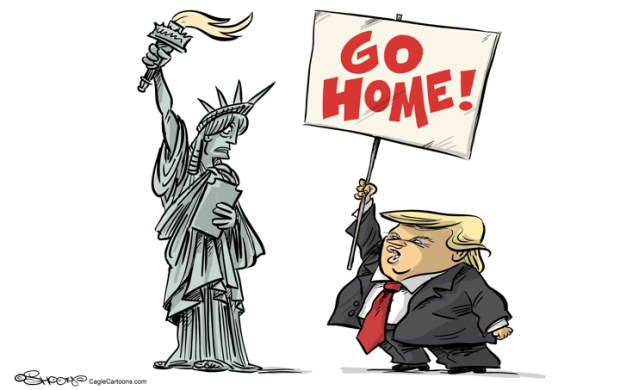 Cartoons Trump's Immigration From Mexico To Muslims
