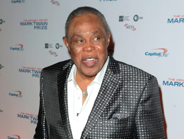FILE - This Oct. 18, 2015 file photo shows Sam Moore at the Kennedy Center for the Performing Arts for the 18th Annual Mark Twain Prize for American Humor in Washington. Moore, of the Rock and Roll Hall of Fame soul duo Sam and Dave, has been added to President-elect Donald Trump's inauguration ceremony. He will perform at the Make America Great Again! Welcome Celebration on Thursday, Jan. 19. (Photo by Owen Sweeney/Invision/AP, File)