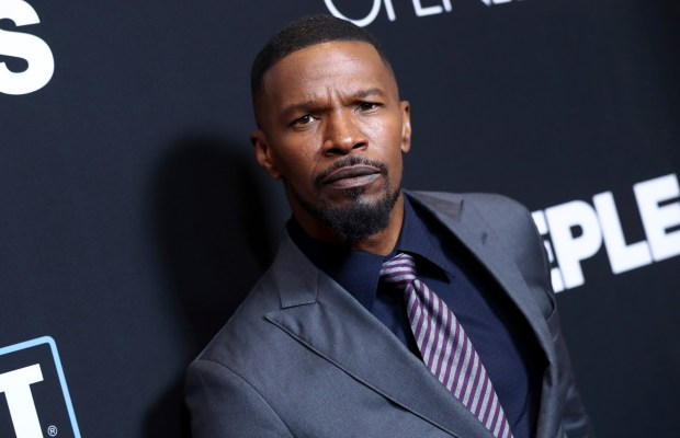 "Jamie Foxx arrives at the Los Angeles premiere of ""Sleepless"" at Regal L.A. Live on Thursday, Jan. 5, 2017. (Photo by John Salangsang/Invision/AP)"