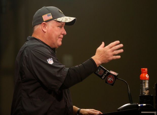 San Francisco 49ers head coach Chip Kelly talks during a press conference after their 25-23 loss to the Seattle Seahawks at Levi's Stadium in Santa Clara, Calif., on Sunday, Jan. 1, 2017. (Nhat V. Meyer/Bay Area News Group)