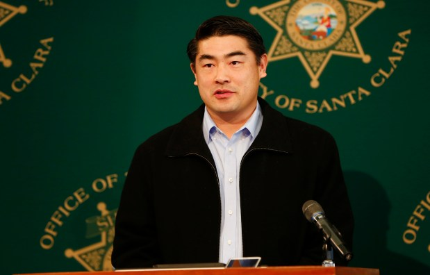 "Huet-Saint Shwe speaks during the announcement of the arrest of suspect, Christopher Ellebracht, in the murder of his father, Gin Lu ""Tommy"" Shwe, during a press conference at the Cupertino Community Hall, in Cupertino, Calif., on Monday, Jan. 30, 2017. The elder Shwe was a prominent Cupertino real-estate investor, and community leader. He vanished on January 18, 2017. His body was later found in a shallow grave near Visalia, California. (Gary Reyes/Bay Area News Group)"