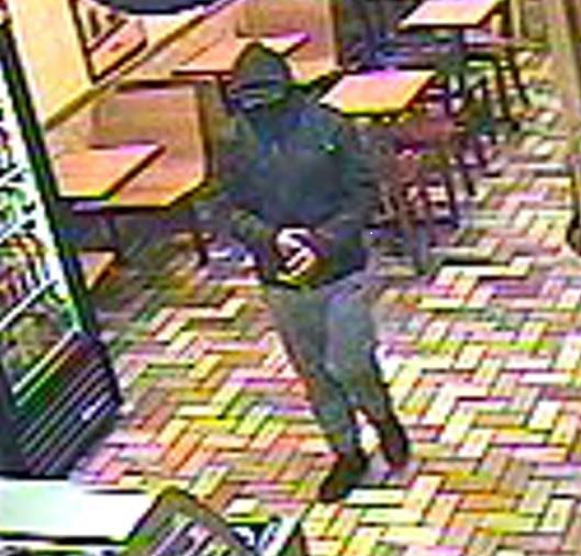 The man this surveillance video reportedly robbed a Subway sandwich shop in San Bruno on Jan. 23, 2017.