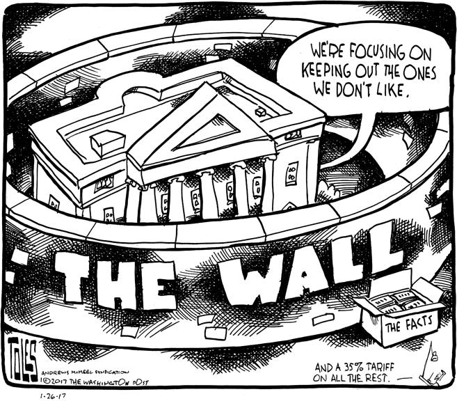 Cartoon Border Mexican Wall