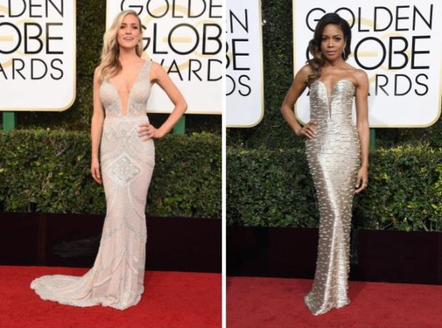 Kristin Cavallari vs. Naomie Harris (Photos by Valerie Macon/AFP/Getty Images and Frazer Harrison/Getty Images)