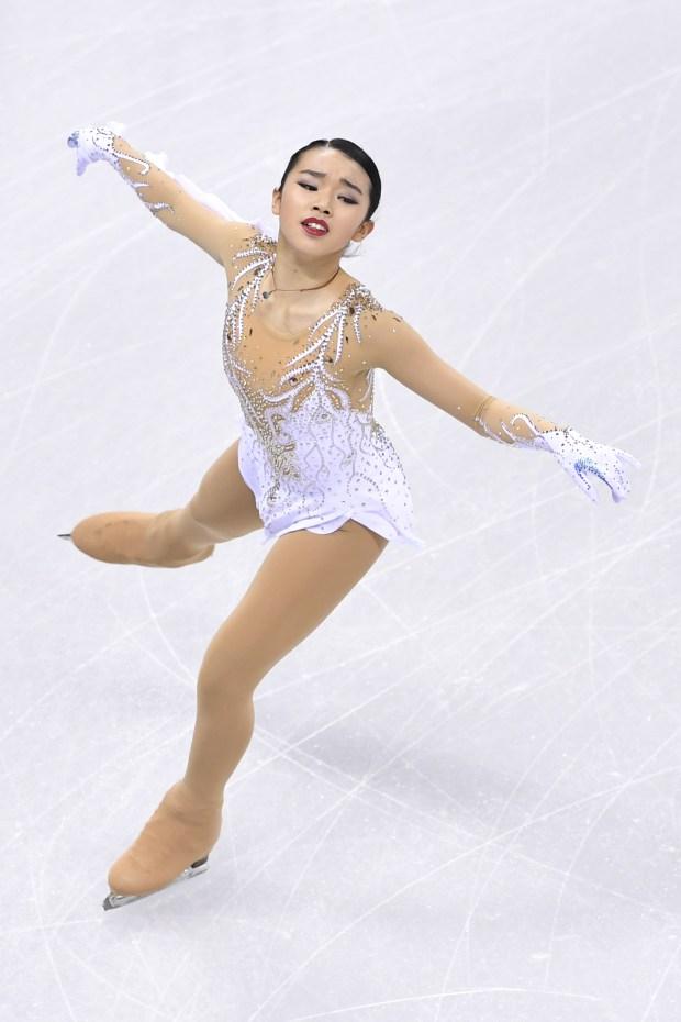 Ladies short program: Karen Chen of United States. (Photo by Koki Nagahama/Getty Images)