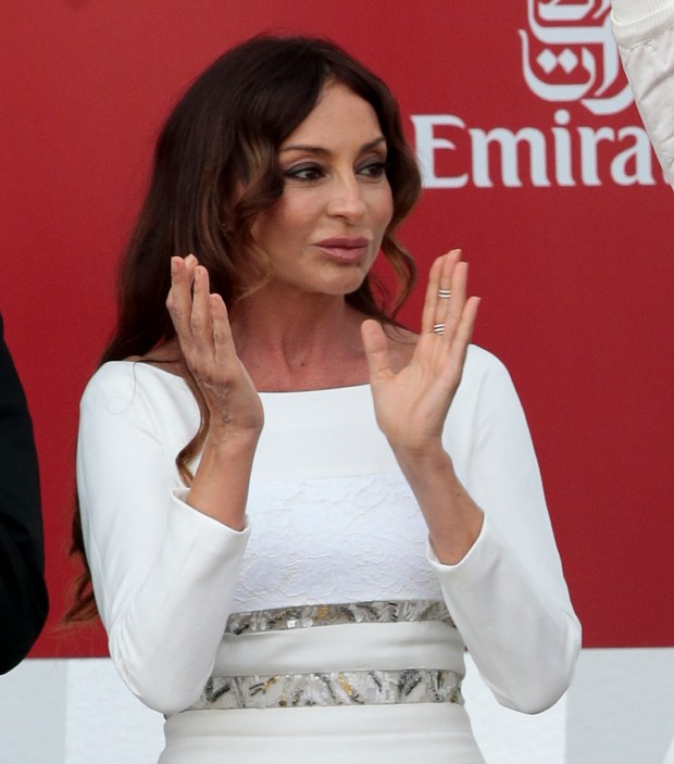 Mehriban Aliyeva, 2016. (AP Photo/Ivan Sekretarev, file)