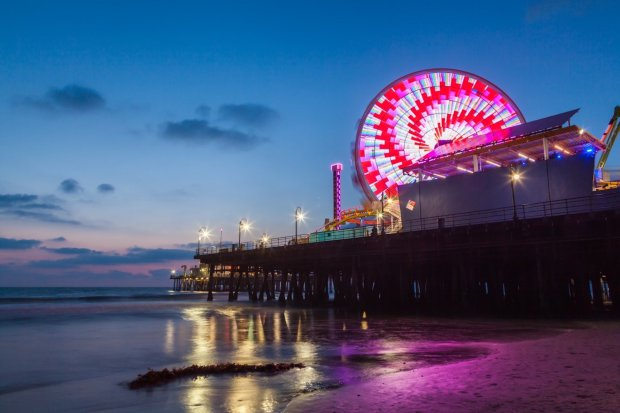 The new Pacific Wheel Ferris wheel light show dazzles nightly with 174,000colorful LED lights on the Santa Monica Pier. Photo credit: Courtesy of Pacific Park