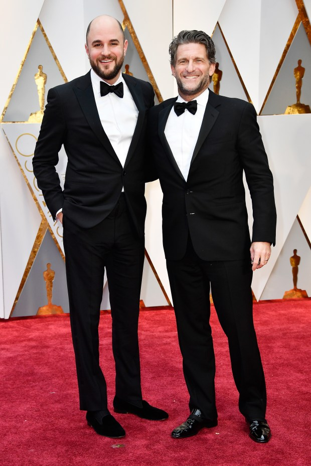 HOLLYWOOD, CA - FEBRUARY 26: Producers Jordan Horowitz (L) and Gary Gilbert attend the 89th Annual Academy Awards at Hollywood & Highland Center on February 26, 2017 in Hollywood, California. (Photo by Frazer Harrison/Getty Images)