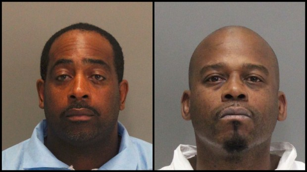 Tramel McClough and John Bivins, both from East Palo Alto, were arrested in connection with the armed robbery of a Verizon store in Sunnyvale on Feb. 2, 2017.
