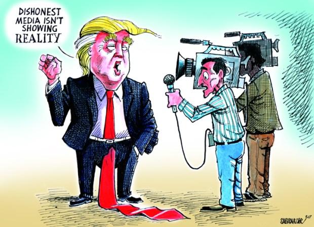 Cartoons Donald Trump vs the media