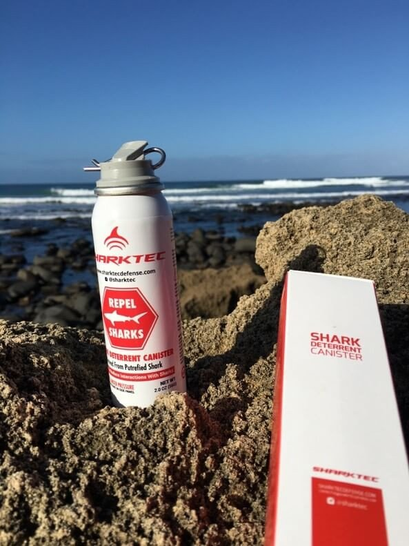 Shark Spray is supposed to give a scent to turn sharks away. (Photo courtesy of Shark Spray)