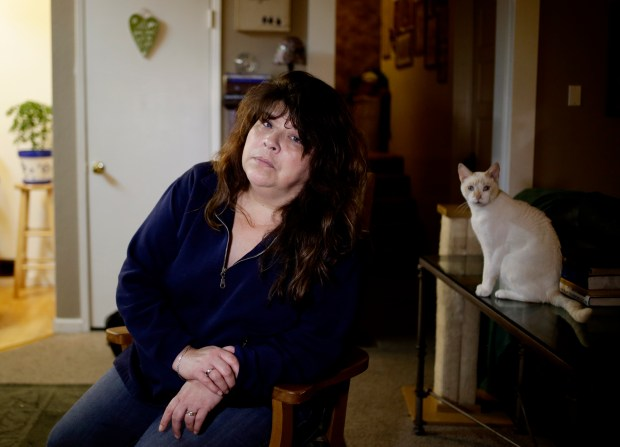 Kari Medina is photographed in her home in Santa Clara, Calif., on Thursday, Feb.16, 2017. The Trump presidency: 25 Bay Area voices, every 25 days. Capture through this diverse group the hopes, fears, surprises, disappointments, highlights and lowlights of Bay Area life. (Josie Lepe/Bay Area News Group)