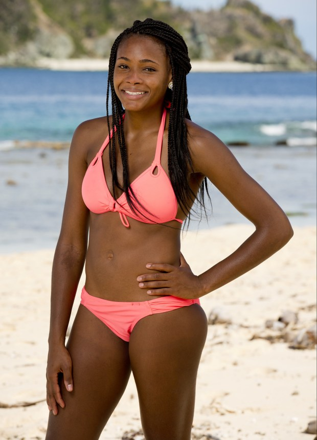 Michaela Bradshaw, 25, from Fort Worth, Texas.She was on season 33: Millennials vs Gen X and finished 14th. (Robert Voets/CBS)