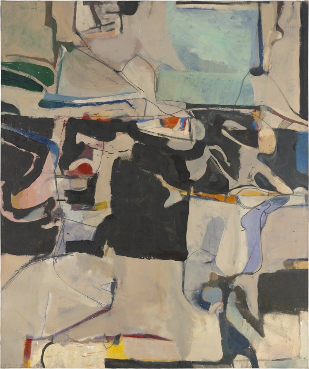 """Urbana #6 (1953) by Richard Diebenkorn. (© the Richard DiebenkornFoundation)"