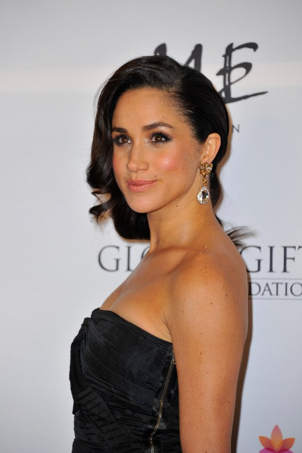 Meghan Markle attends the London Global Gift Gala at ME Hotel on November 19, 2013 in London, England. (Photo by Gareth Cattermole/Getty Images)