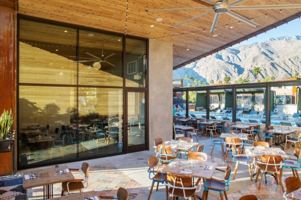 The Reservoir restaurant at Palm Springs' Arrive hotel takes itsinspiration from Southern California cuisine. (VisitPalmSprings.com)