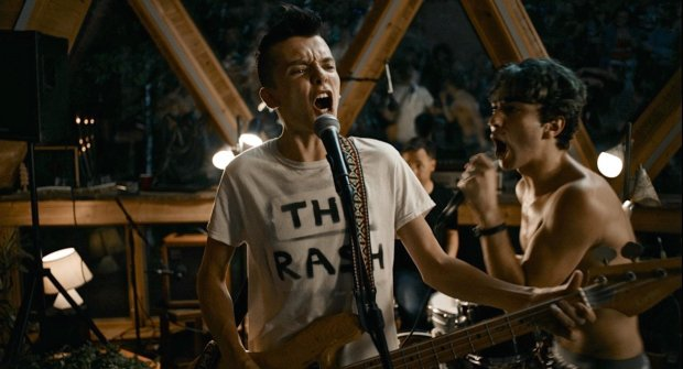 """*Photo Credit: Corey Walter*Asa Butterfield and Alex Wolff put on a punk-band show in the delightful """"The House of Tomorrow,"""" receiving its world premiere at the San Francisco International Film Festival , which opens April 5, 2017."""