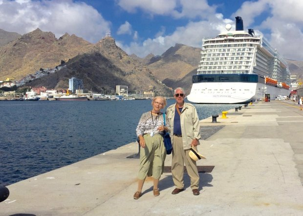 *CANARY ISLANDS:* Hollister residents Sally and Jack Biersdorff took aCelebrity Transition Cruise from Rome to Miami, with a stop on the island of Tenerife, off the coast of Africa. (Courtesy Biersdorff Family)