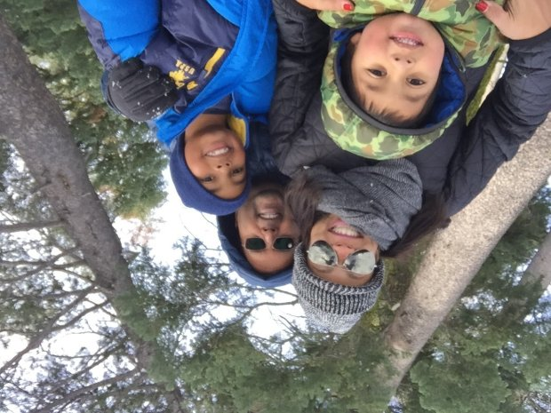 LAKE TAHOE: Palo Alto's Biswas family — Rahul and Priyanka and theirchildren, Sid and Rohan -- spent Thanksgiving break at Tahoe. (Courtesy Biswas Family)