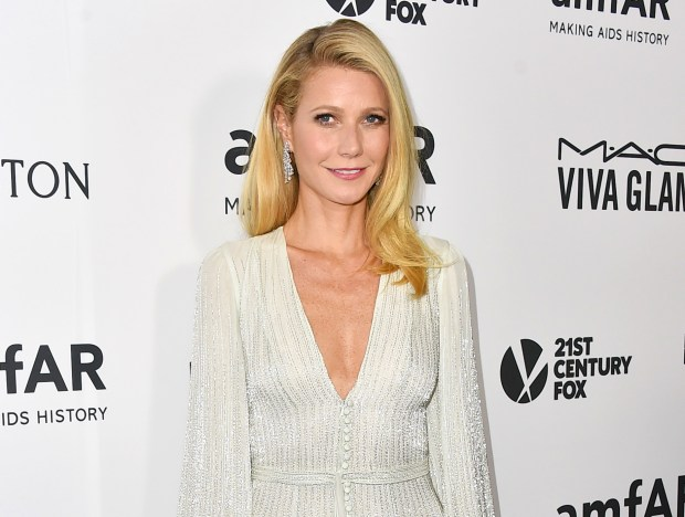 FILE - In this Oct. 29, 2015 file photo, Gwyneth Paltrow arrives at the amfAR Inspiration Gala in Los Angeles. A Los Angeles jury on Wednesday, Feb. 17, 2016, acquitted Dante Soiu of Columbus, Ohio, of stalking Paltrow by sending her numerous letters and unsolicited gifts in recent years. (Photo by Jordan Strauss/Invision/AP, FIle)