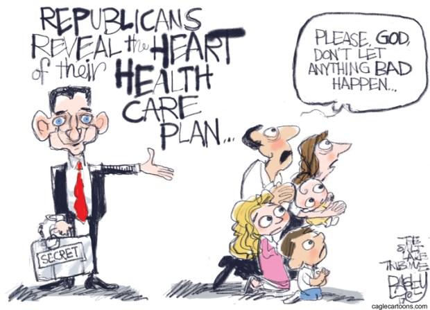 Cartoons GOP Health Care Plan's Impact
