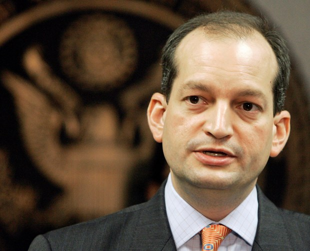 Labor Secretary-designate Alexander Acosta, 2008. (AP photo/Alan Diaz, File)
