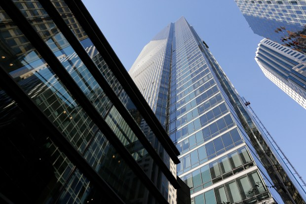 This Sept. 26, 2016 file photo shows the Millennium Tower in San Francisco. The 58-story tower has gained notoriety in recent months as the leaning tower of San Francisco. Lawyers for San Francisco's Millennium Tower homeowners association will hold a news conference Wednesday, March 29, 2017, to announce a lawsuit filed on behalf of their clients. (AP Photo/Eric Risberg, File)
