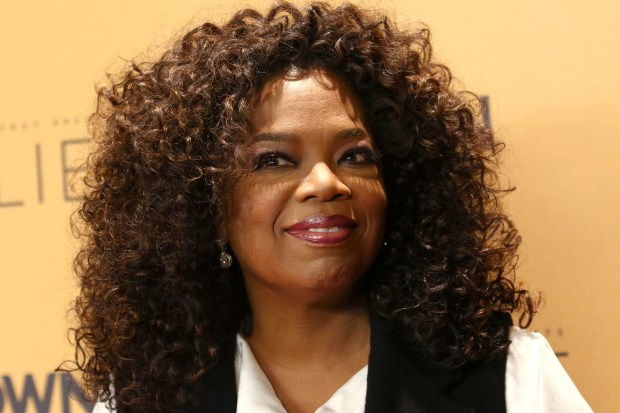 """FILE - In this Wednesday, Oct. 14, 2015, file photo, Oprah Winfrey attends the premiere of the Oprah Winfrey Network's (OWN) documentary series """"Belief"""" at The TimesCenter in New York. Winfrey tod Bloomberg Television for an interview posted online on March 1, 2017, that President Donald Trump's victory has her rethinking whether she could be elected to the White House. (Photo by Greg Allen/Invision/AP, File)"""