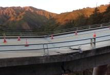 Big Sur Tears Buckling Bridge