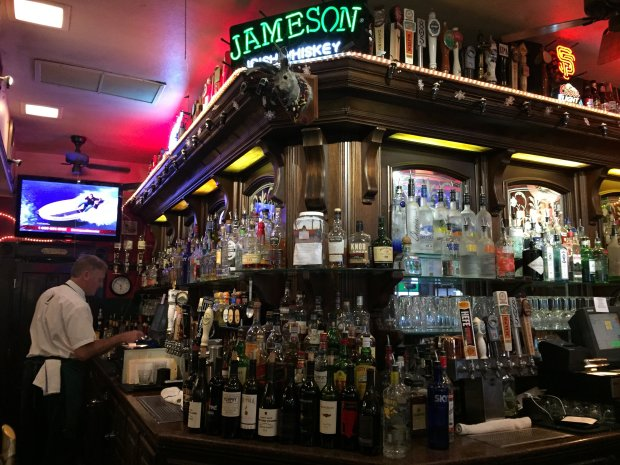 The bar is well-stocked at C.B. Hannegan's, which has become a Los Gatosinstitution since opening in 1980. (Sal Pizarro/Staff)