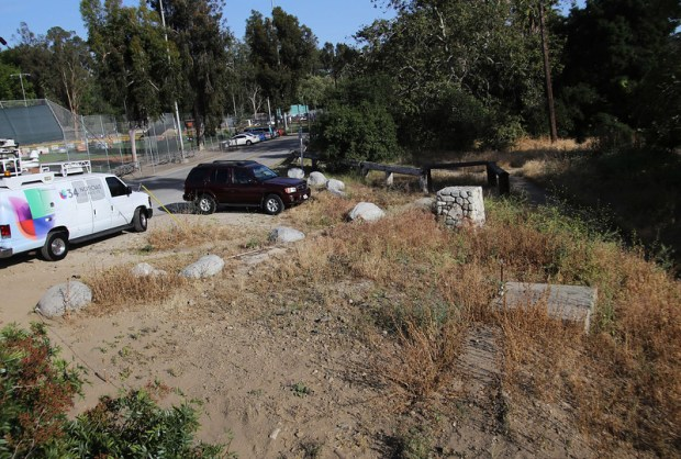 The area at Arroyo Park where LA County Sheriff's search and rescue teams searched for missing 5 year old boy Aramazd Andressian Jr., at Arroyo Park in South Pasadena, CA., Sunday, April 23, 2017. (Photo by James Carbone for the Pasadena Star News/SCNG)