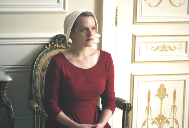 """Elisabeth Moss plays Offred in """"The Handmaid's Tale"""" on Hulu with threeepisodes.(George Kraychyk/Hulu)"""