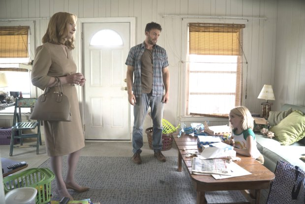 "Lindsay Duncan, left, Chris Evans and McKenna Grace in ""Gifted."" (WilsonWebb/Fox Searchlight Pictures)"