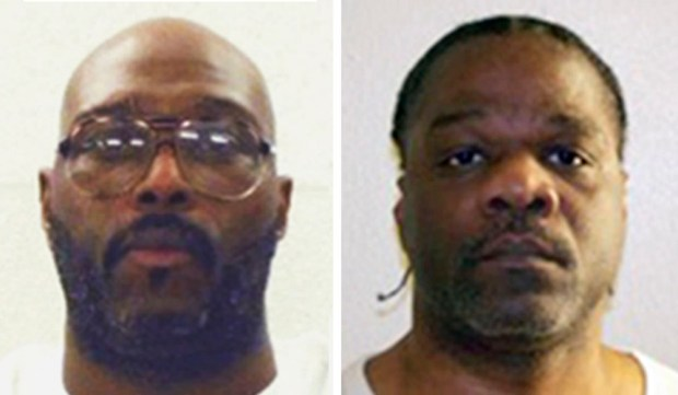 Stacey E. Johnson, left, and Ledell Lee had been scheduled for execution on April 20, 2017. (Arkansas Department of Correction via AP)