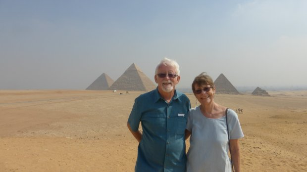 Courtesy of the Imerson FamilyEGYPT: San Jose residents Rob and Deb Imerson visited the pyramids of Giza in October.