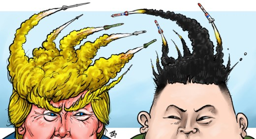 Image result for Donald Trump and Kim Jong Un cartoon
