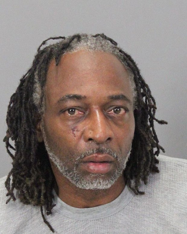 Chardel Ray Malone, 51, of Oakland, was arrested Wednesday in connection with burglaries at two Walgreens in Milpitas. (Courtesy of the Milpitas Police Department).