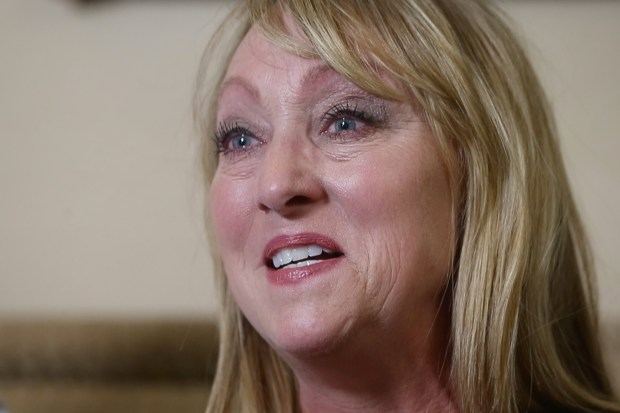 Recounting the pain of a losing her son Konrad Reuland to a brain aneurysm last December, Mary Reuland is overwhelmed by emotion, Thursday, March 2, 2107, at her home in San Juan Capistrano, Calif. Konrad was an organ donor whose heart was given to baseball Hall of Famer Rod Carew. (Karl Mondon/Bay Area News Group)