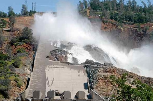 Blasting to be used around Oroville Dam spillway