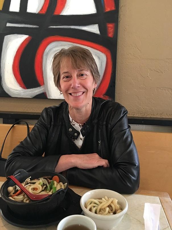 Marion Dickel in Masu Sushi.