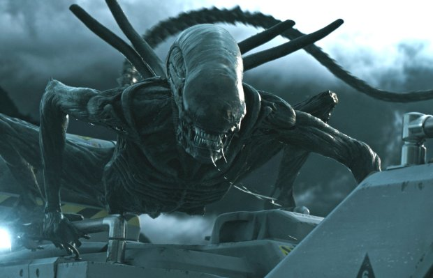 """A frame from """"Alien: Covenant"""" shows one of the film's title characters.(Twentieth Century Fox)"""