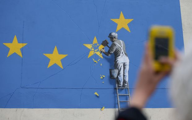 Detail of the mural. (AFP Getty)