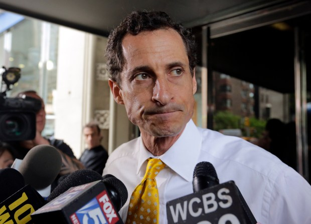 Former Democratic U.S. Rep. Anthony Weiner, 2013. (AP Photo/Richard Drew, File)