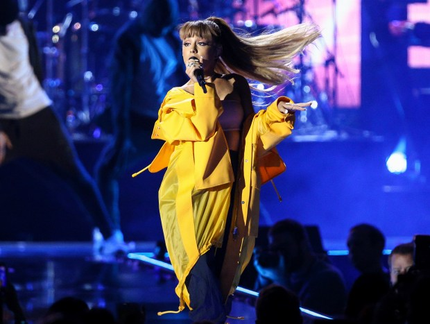 "FILE - In this Sept. 24, 2016 file photo, Ariana Grande performs at the 2016 iHeartRadio Music Festival in Las Vegas. Police say there are ""a number of fatalities"" after reports of an explosion at an Ariana Grande concert at Manchester Arena in northern England on Monday, May 22, 2017.. (Photo by John Salangsang/Invision/AP, File)"