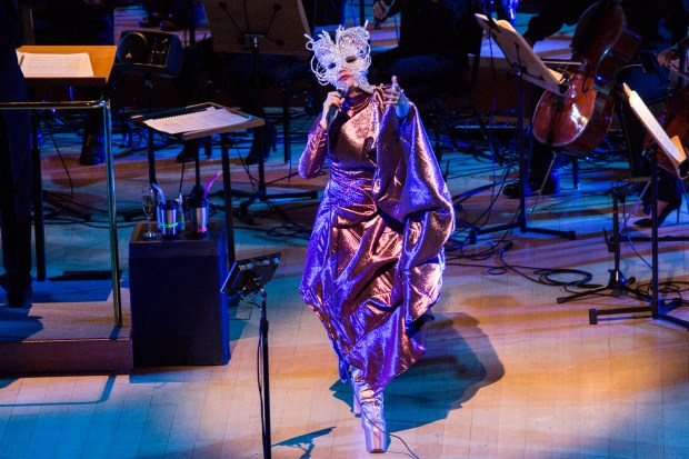 Bjork with Orchestra at Walt Disney Symphony Hall on May 30. (Photo by Santiago Felipe)