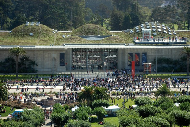 The California Academy of Sciences in San Francisco Golden Gate Park, was also designed by Renzo Piano.